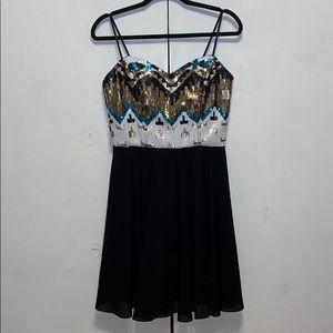 Gianni Bini Dresses - Gianni Bini Sequin Strapless Cocktail Dress Sz L
